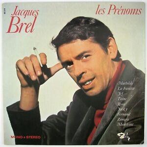 JACQUES BREL Les Prenoms LP 1968 CHANSON NM- VG++