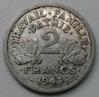 France . 2 Francs francisque 1943 B