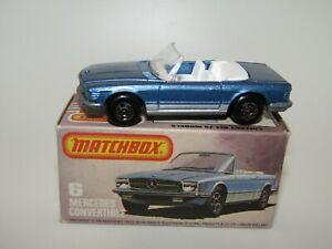 Matchbox Superfast No 6 Mercedes 350SL Unp Base Very Rare Late Issue L Box MIB