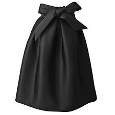 Womens Retro Swing A Line Hepburn High Waist Flared Ball Gown Vintage Midi Skirt