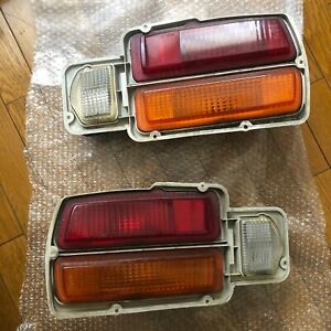 JDM / Euro Datsun 260z 280z Amber+Red Tail Lights - S30Z 240Z Nissan Tail lamps