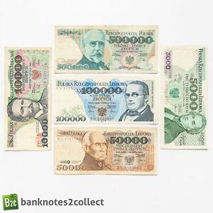POLAND: Set of 5 Polish Zloty Banknotes.