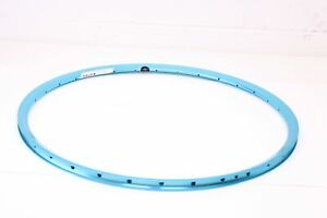 Blue Used Anodized Velocity 650 c 32 Hole  Presta Valve Rim, Made in Australia