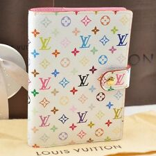 Auth Louis Vuitton Multicolor Agenda PM Day Planner Cover White R21074 #S1292