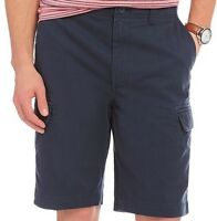 Roundtree & Yorke Casuals Big Man Washed Twill Cargo Shorts S75HR326B Navy 46