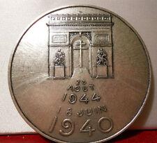MÉDAILLE BRONZE 72MM CHARLES DE GAULLE 1945 PAR RIVAUD