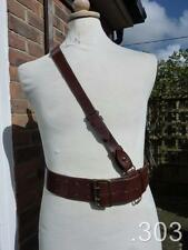 Hector Powe British Army Military Officer's Sam Browne Leather Belt Size 33""