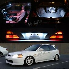 96-00 Civic Interior White LED Bulb Package (Map Dome + Trunk + License Plate)