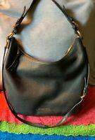 Michael Kors Black Pebble Grain Leather Zip Slouch Hobo Cross Body Shoulder Bag