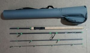 STUNNING HIGH CARBON TRAVEL SPINNING ROD 8' MEDIUM.20-40G EX DISPLAY MINT