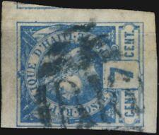 "HAÏTI - 1882 - 7c blue ""LIBERTY"" used ""B16"" numeral of PLYMOUTH-BRISTOL TPO"