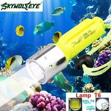 Zoom 3500LM XM-L T6 LED Underwater 130M Scuba Diving Flashlight Torch Light