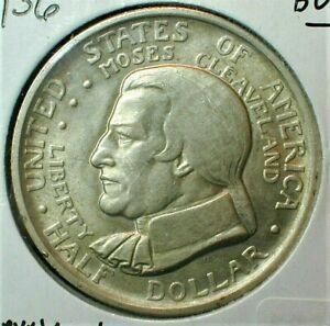 1936 Cleveland Silver Half Dollar Commemorative Brilliant Uncirculated (885)