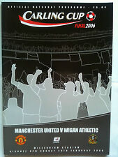 MINT 2006 Manchester United v Wigan Athletic League Cup Final