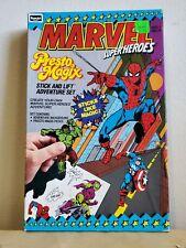 Presto Magix Marvel Super Heroes Stick N Lift Adventure Set Rose Art - VINTAGE