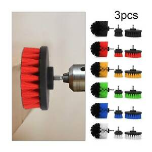 3Pcs Scrub Brush Drill Attachment Kit Power Scrubber Cleaning Brushes Grout Tile