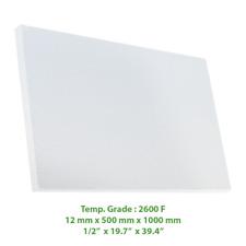 "Thermal Insulation Board 2600 F 39.4"" X 19.7"" X 1/2"""