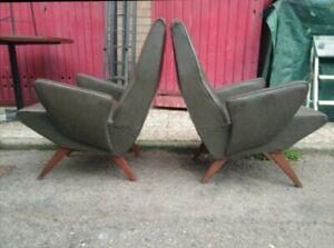 Mid century Pair Lounge chairs Niino Zoncada Zanuso italy 1950s
