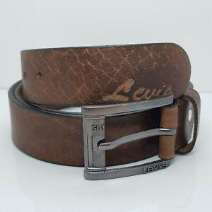 Levi'sTexture Brown ColorLevi's Genuine Leather Men Belt Size is 46 Inch