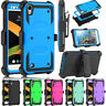 For LG Tribute HD LS676 Shockproof Hybrid Rugged Holster Armor Phone Cover Case
