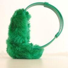 Authentique cache oreille fourrure synthétique - Protège oreilles - Vert -