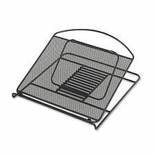 Safco 2161BL Onyx Adjustable Steel Mesh Laptop Stand  12 1/4 x 12 1/4 x 1  Black