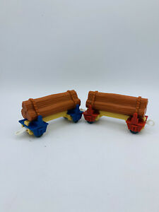 Log Loose Cargo & Car 2x Thomas Friends Trackmaster for Motorized Trains Logging
