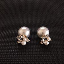 Women's New Fashion Trendy Double Sides Pearl Earring Jewellery