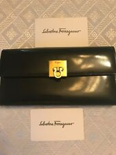 Authentic women's black patent leather Salvatore Ferragamo wallet! Great Cond!!