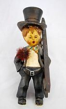 Old Anri - Hand Carved Wood Boy Chimney Sweep - As Is See photos - Missing Base
