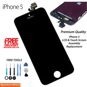 BLACK iPhone 5 A1429 Retina LCD Replacement & Digitiser Touch Screen Grade *AAA*