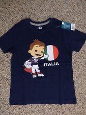Uefa Soccer Childrens Souvenir T-shirt Italia Navy 6-8 Cotton