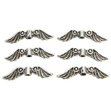 20Pcs/Lot Silver Tone Angel Fairy Wings Charm Spacer Beads For Jewelry Craft
