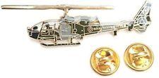 Gazelle Royal Marine Helicopter Side View Enamel Lapel Pin Badge