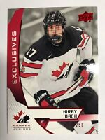 2019 Kirby Dach Upper Deck Team Canada Juniors Exclusives Red Rookie /250