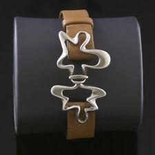 Georg Jensen Silver Bracelet - Splash #429B Brown