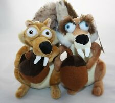 "Ice Age 4 Continental Drift Funny Squirrel Scrat & Scratte Plush Doll 8"" Set"