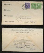 ESPERANTO 1938 LONG LETTER...ADVERTISING ENVELOPE HOTEL CHISCA MEMPHIS USA