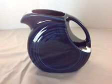 HOMER LAUGHLIN FIESTA WARE USA COBALT BLUE LARGE DISK PITCHER 72oz. WATER