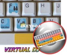 Virtual DJ keyboard sticker
