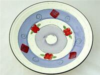 Beautiful Large Poole Pottery Hand Painted Floral Dish