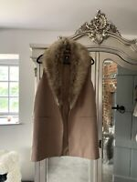 Nude Waist Coat Size 10,With Removable Fur Collar