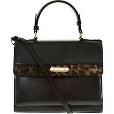 Rocco Barocco Negro Estampado de Leopardo Grab Bag-RRP £ 160