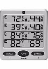 Ambient Weather WS-10 Wireless Indoor/Outdoor 8 Channel Thermometer Hygrometer