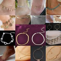 Boho woman Infinity Sandals Anklet Ankle Bracelet Beach Foot Jewelry Gypsy Chain