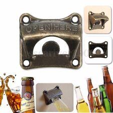Zinc alloy Wall Mount Bar Wine Beer Soda Glass Cap Bottle Opener Tool Open Here