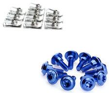 Peugeot Speedfight 2 Schrauben Klemmen Clips Verkleidung Aluminium blau eloxiert