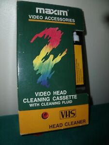 VHS VIDEO CASSETTE HEAD CLEANER, WITH FLUID