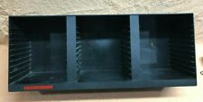 Laserline Black CD Storage Wall Table Rack Organizer CD 36 Vintage Plastic