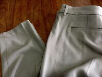 Liverpool taupe flat front mid rise polyester rayon pants 8 29